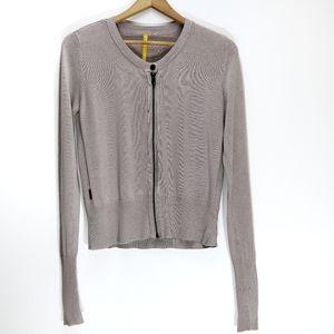 Lolë | Full Zip Moto Style Cardigan Sweater